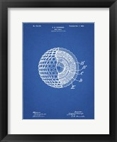 Framed Golf Ball Patent - Blueprint