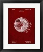 Framed Golf Ball Patent - Burgundy