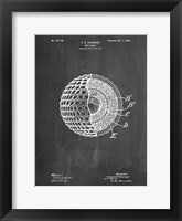 Framed Golf Ball Patent - Chalkboard