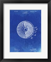 Framed Golf Ball Patent - Faded Blueprint