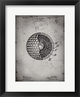 Framed Golf Ball Patent - Faded Grey