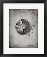 Framed Golf Ball Patent - Faded Grey