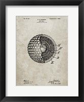 Framed Golf Ball Patent - Sandstone