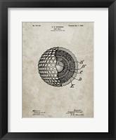 Framed Golf Ball Patent - Sandstone