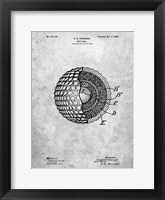Framed Golf Ball Patent - Slate