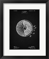 Framed Golf Ball Patent - Vintage Black