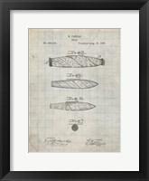 Framed Cigar Patent - Antique Grid Parchment
