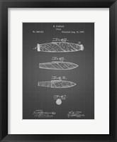 Framed Cigar Patent - Black Grid