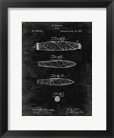 Framed Cigar Patent - Black Grunge