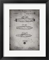 Framed Cigar Patent - Faded Grey