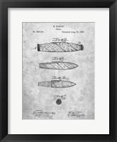 Framed Cigar Patent - Slate