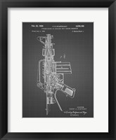 Framed Firearm With Auxiliary Bolt Closure Mechanism Patent - Black Grid