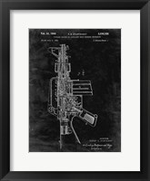 Framed Firearm With Auxiliary Bolt Closure Mechanism Patent - Black Grunge