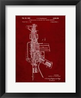 Framed Firearm With Auxiliary Bolt Closure Mechanism Patent - Burgundy