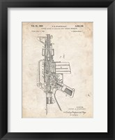 Framed Firearm With Auxiliary Bolt Closure Mechanism Patent - Vintage Parchment