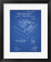 Framed Type Writing Machine Patent - Blueprint