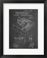Framed Type Writing Machine Patent - Chalkboard