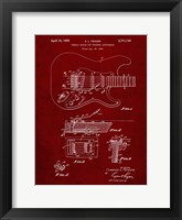 Framed Tremolo Device for Stringed Instruments Patent - Burgundy