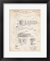 Framed Tremolo Device for Stringed Instruments Patent - Vintage Parchment