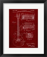 Framed Guitar & Combined Bridge & Tailpiece Therefor Patent - Burgundy