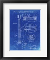Framed Guitar & Combined Bridge & Tailpiece Therefor Patent - Faded Blueprint