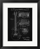 Framed Guitar & Combined Bridge & Tailpiece Therefor Patent - Vintage Black