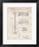 Framed Guitar & Combined Bridge & Tailpiece Therefor Patent - Vintage Parchment