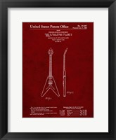 Framed Stringed Musical Instrument Patent - Burgundy