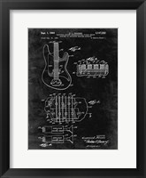Framed Electric Guitar Patent - Black Grunge