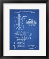 Framed Electric Guitar Patent - Blueprint