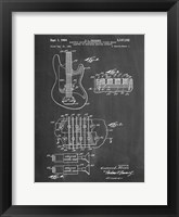 Framed Electric Guitar Patent - Chalkboard