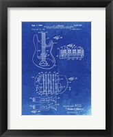 Framed Electric Guitar Patent - Faded Blueprint