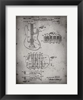Framed Electric Guitar Patent - Faded Grey
