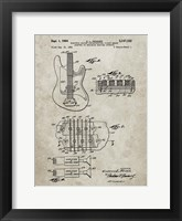 Framed Electric Guitar Patent - Sandstone