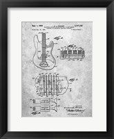 Framed Electric Guitar Patent - Slate