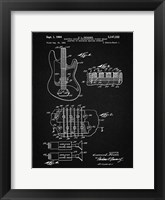 Framed Electric Guitar Patent - Vintage Black