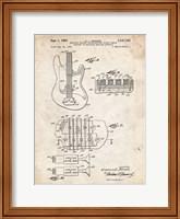 Framed Electric Guitar Patent - Vintage Parchment