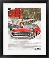 Framed 57 Chevy Christmas