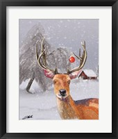 Framed Christmas Deer