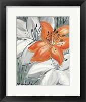 Framed Tiger Lily in Orange