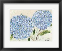 Framed Blue Hydrangeas I