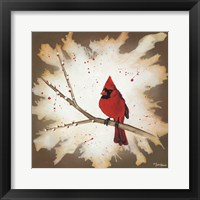 Framed Weathered Friends - Cardinal