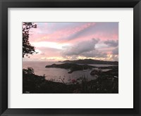 Framed Antigua Sunset II