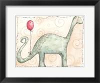 Framed Brachiosaurus and Red Balloon