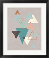 Framed Abstract Geo II Gray