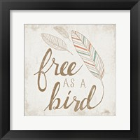 Framed Free as a Bird Beige