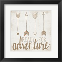 Ready for Adventure Beige Framed Print