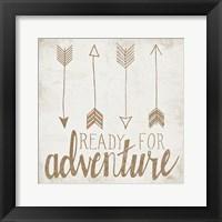 Ready for Adventure Beige Framed Print