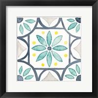 Framed Garden Getaway Tile VIII White