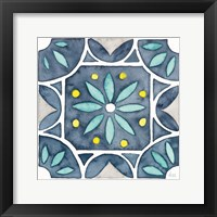 Framed Garden Getaway Tile VIII Blue